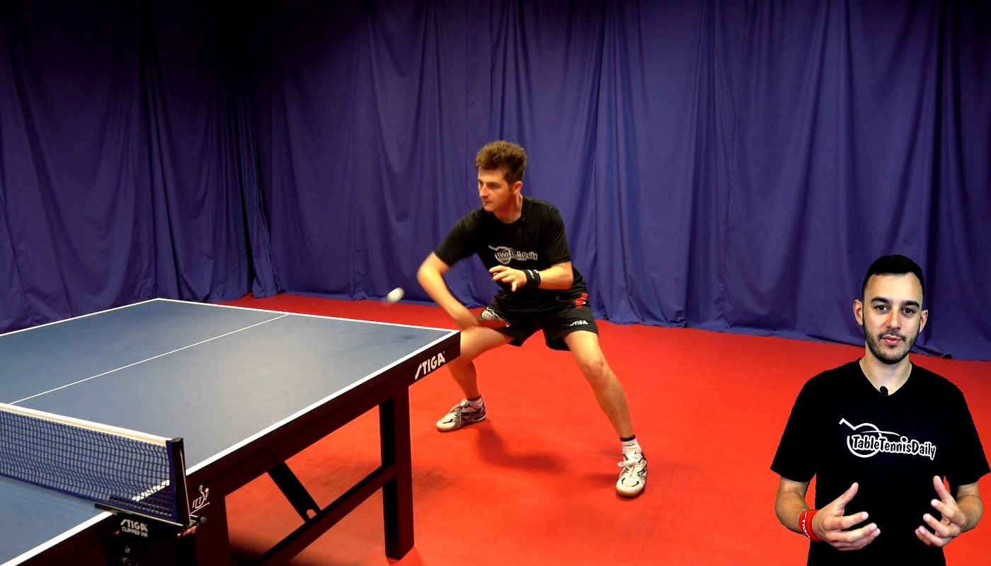 How To Backhand Topspin Against Backspin Tabletennisdaily Academy
